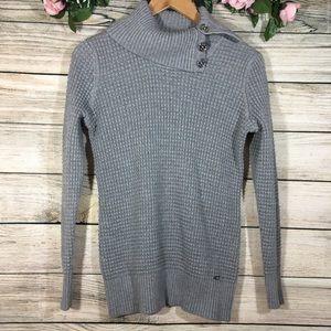 Calvin Klein | Small Grey Knit Turtleneck Sweater